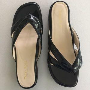 "Taryn Rose Traveler ""Tacy"" Black Patent Sandal"